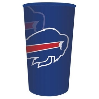 Club Pack of 20 Blue and Red Buffalo Bills NFL Football Plastic Drinking Party Souvenir Tumbler Cups 22 oz
