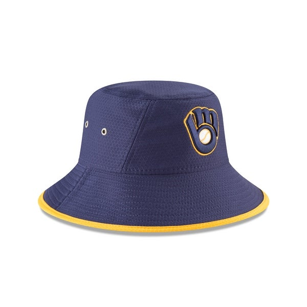 9b8bfcce159 Shop Milwaukee Brewers Hex Team Bucket Hat - Free Shipping On Orders Over   45 - Overstock - 19875199