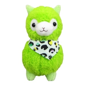 """Llama Bandana Alpaca 7"""" Prime Plush Green"""