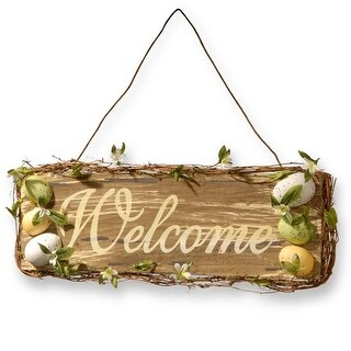 National Tree RAE-D030149 21 in. Home Decor Welcome Sign