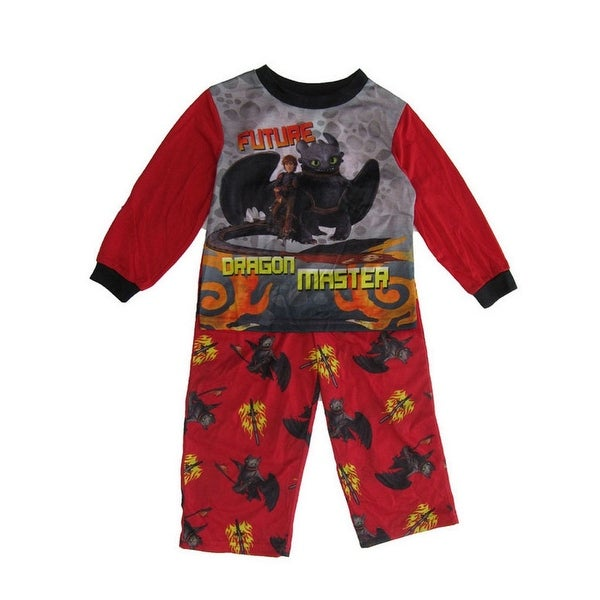 1a59c2b21 Shop DreamWorks Little Boys Red Dragon Long Sleeve 2 Pc Pajama Set - Free  Shipping On Orders Over $45 - Overstock - 21130502