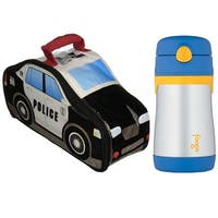 Thermos Police Car Novelty Lunch Kit w/ 10 Oz Straw Drink Bottle