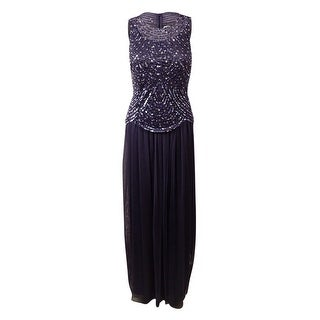 Patra Women's Sequined Popover Mesh Gown - Violet