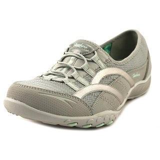 Skechers Breathe-Easy-Faithful Women  Round Toe Canvas Gray Sneakers