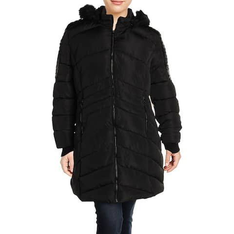 Nanette Nanette Lepore Womens Plus Puffer Coat Winter Quilted