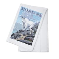 Mountain Goat & Kid - Montana - LP Artwork (100% Cotton Towel Absorbent)
