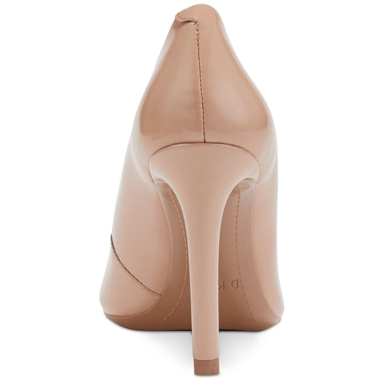 DKNY Womens Laci-Pump Leather Round Toe Classic Pump