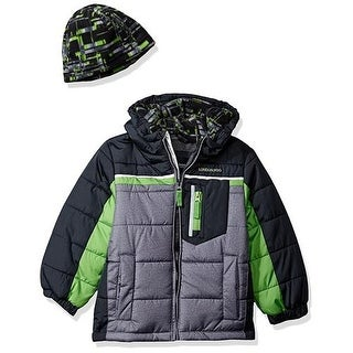 London Fog Boys 4-7 Puffer Bubble Jacket with Beanie