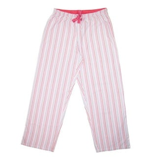 Hanes Women's Striped Cotton Pajama Lounge Pants - tea rose stripe