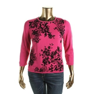 Alfred Dunner Womens Petites Oscar Night 2015 Knit Embellished Sweater - pxl