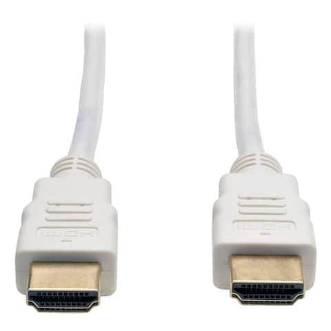 Tripp Lite P568-003-WH High Speed HDMI Cable Ultra HD 4K x 2K Digital Video with Audio (M/M) White 3 Feet