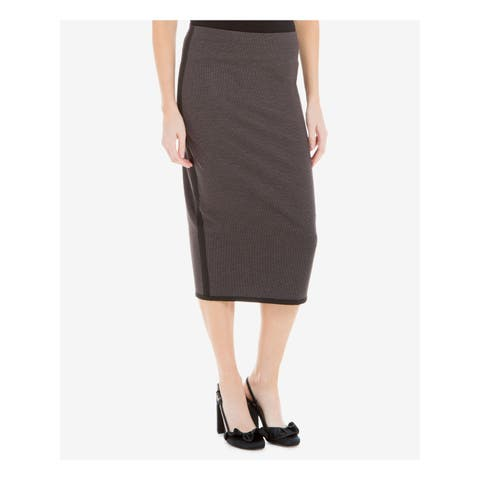 MAX STUDIO Womens Black Printed Below The Knee Pencil Wear To Work Skirt Size: XS