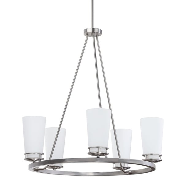 "Miseno MLIT136903 5-Light Chandelier with 36"" Adjustable Down Rod"