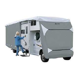 Classic Accessories OverDrive PolyPRO 3 Deluxe Class C RV Cover, Fits 29' - 32' - Grey
