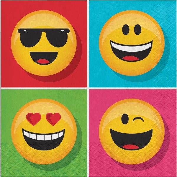 """Show Your Emojions 6.5"""" Paper Luncheon Napkins: 16 Count - Multi"""