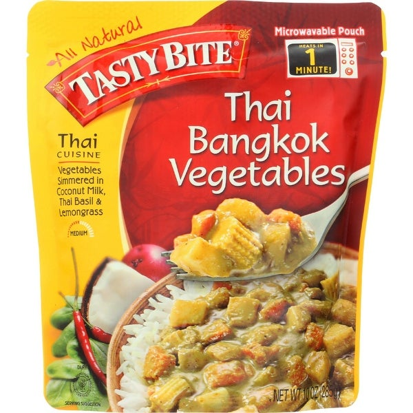 Tasty Bite Entree - Thai Cuisine - Thai Bangkok Vegetables - 10 oz - case of 6