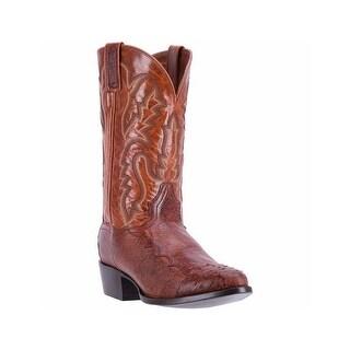 Dan Post Western Boots Mens Leather R Toe Cowboy Cognac DPP5210