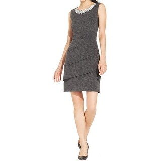 Connected Apparel Womens Wear to Work Dress Sleeveless Beaded