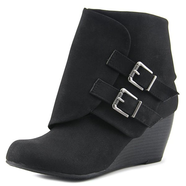 American Rag Cora Women Round Toe Suede Black Ankle Boot