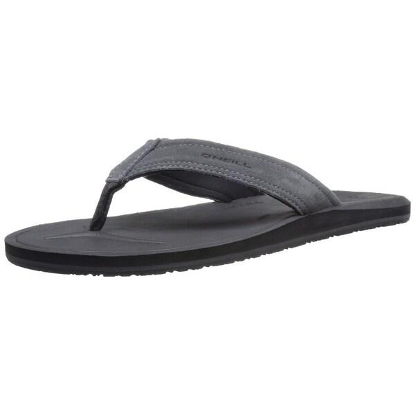 O'Neill NEW Black Nacho Libre Suede Men's Size 8 T-Strap Flip-Flops