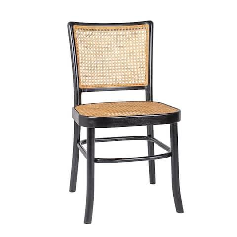 East at Main Keilen Solid Wood Side Chair in Brown, Set of 2