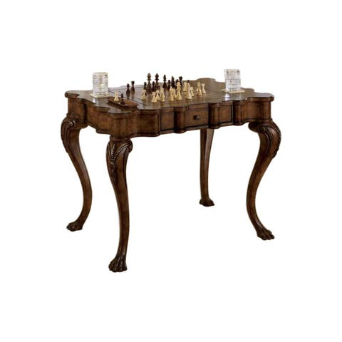 Offex Traditional Rectangular Wooden Game Table in Heritage Finish - Medium Brown