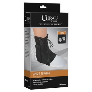 Curad ORT27600LD Lace-Up Figure 8 Ankle Brace, Large