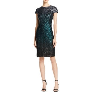 Carmen Marc Valvo Womens Cocktail Dress Sequined Ombre