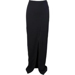 Artelier Nicole Miller Womens Crepe Front Slit Maxi Skirt