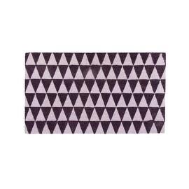 "Decorative Black and White Triangle Print Coir Outdoor Rectangular Door Mat 29.5"" x 17.75"""