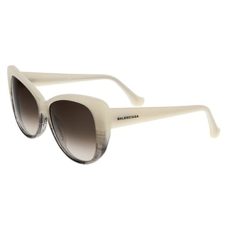 Balenciaga BA0016 24K Pearl/Black Horn Cat Eye Sunglasses