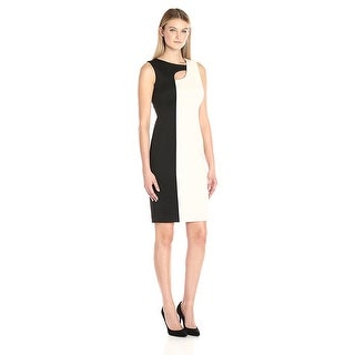 Calvin Klein Colorblocked Cutout Sleeveless Sheath Dress - 8