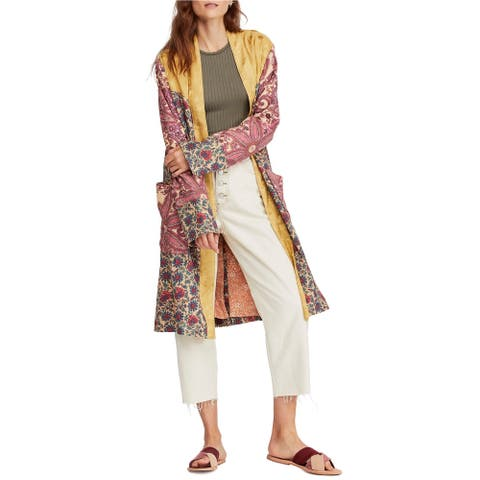 Free People Womens Maggie Open Front Jacket multicolor XS