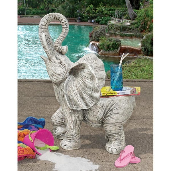 b5499ec28378 Shop Design Toscano Good Fortune Elephant Sculptural Garden Chair - Free  Shipping Today - Overstock.com - 21149707