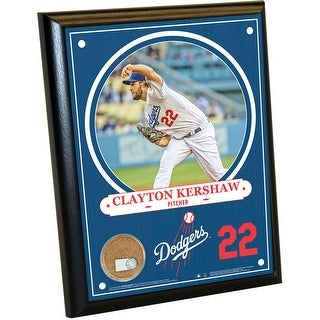 Los Angeles Dodgers Clayton Kershaw 8x10 Plaque with Game Used Dirt from Dodger Stadium