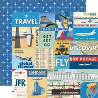 "Passport Double-Sided Cardstock 12""X12""-Multi Journaling Cards"