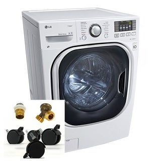 LG WM3997HKIT 4.3 Cu. Ft. Steam Washer Dryer Combo with Portability Kit