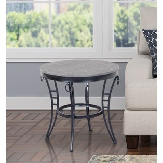 Link to Porch & Den Erawan Emmerson Grey Round End Table Similar Items in Living Room Furniture