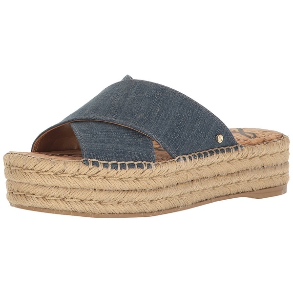 ade74c393 Shop Sam Edelman Womens Natty Fabric Open Toe Casual Espadrille ...