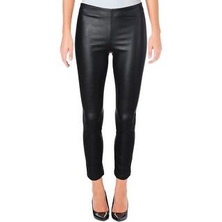 Aqua Womens Ankle Pants Faux Leather Leggings