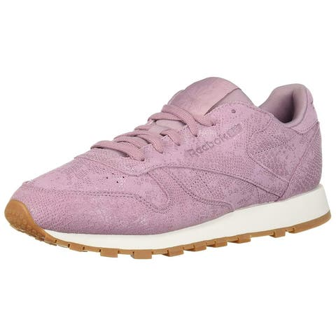 691e5c81fea Reebok Womens Classic Leather Low Top Lace Up Running Sneaker