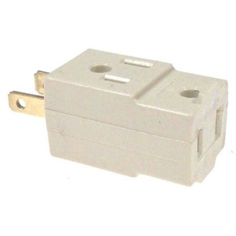 Leviton Ivory Cube Triple Tap Plug-In Outlet Adapter 001-531-I