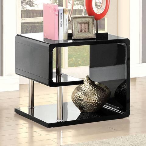 Furniture of America Inomata Modern Geometric High Gloss End Table