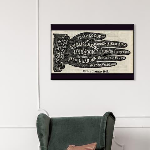 Wynwood Studio 'Farm & Garden' Advertising Wall Art Canvas Print Posters - Black, White