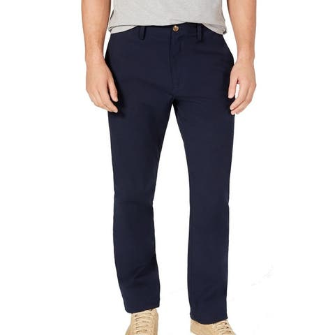 Club Room Mens Chino Pants Navy Blue Size 38X30 Straight Leg Stretch