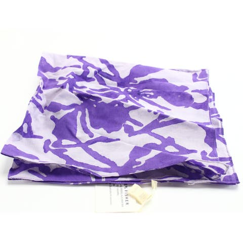 Eileen Fisher Women's Scarf Purple Floral Square Bandana Accessory