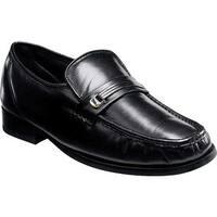 Florsheim Men's Milano Moc Toe Bit Loafer Black Leather