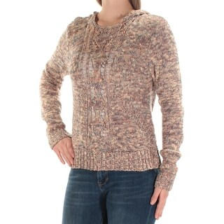Womens Coral Long Sleeve Crew Neck Sweater Size M