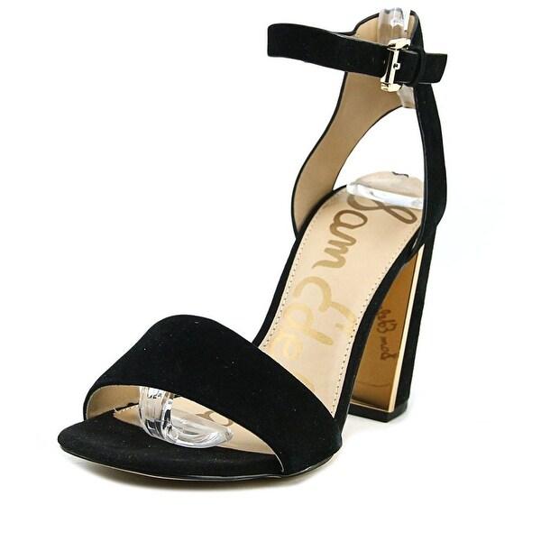 6d899a6e4cf2 Shop Sam Edelman Synthia Women Open Toe Suede Black Sandals - Free ...
