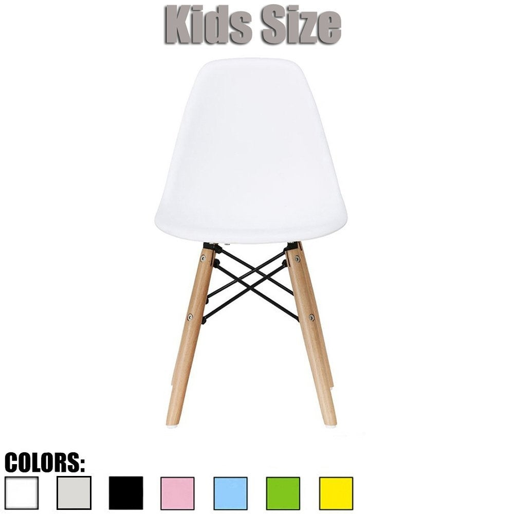 2xhome Modern Kids Chair Side No arm Armless Colors with Natural Wood Legs - Thumbnail 0